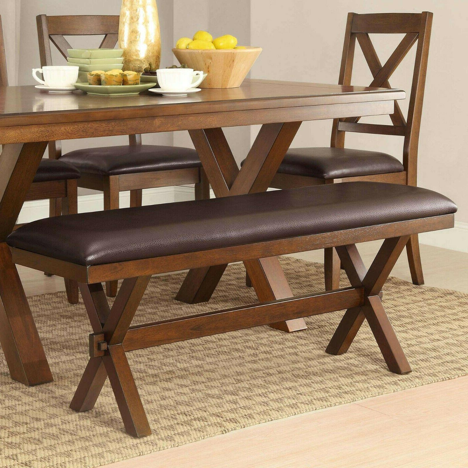 Dining Bench Sturdy Padded Comfortable Seat Maddox Crossing