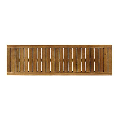 Great Outdoor Industrial Acacia Wood and Iron Bench, and