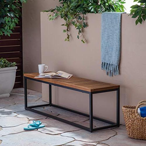 Great Deal Outdoor Acacia and Teak and Black