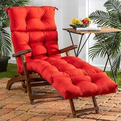 Havenside Home Driftwood 72-inch Outdoor Red Chaise Lounger