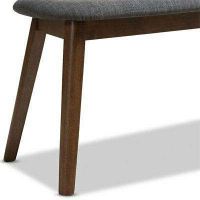 Baxton Bench in and Walnut Brown