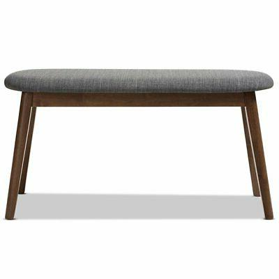 Baxton Studio Upholstered Bench Gray and