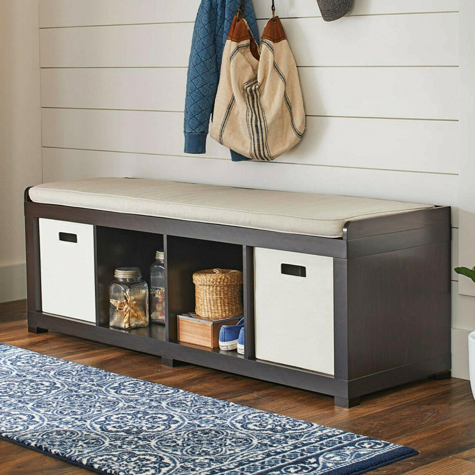 Entryway Mudroom Storage Cushion Upholstered