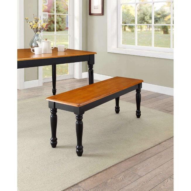 Farmhouse Solid Wood Bench Dining Room Kitchen Long Chair Se