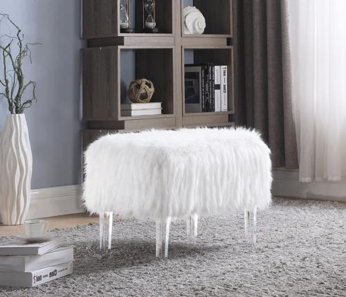 Iconic Home Fiorino Modern Contemporary Faux Fur Acrylic Leg