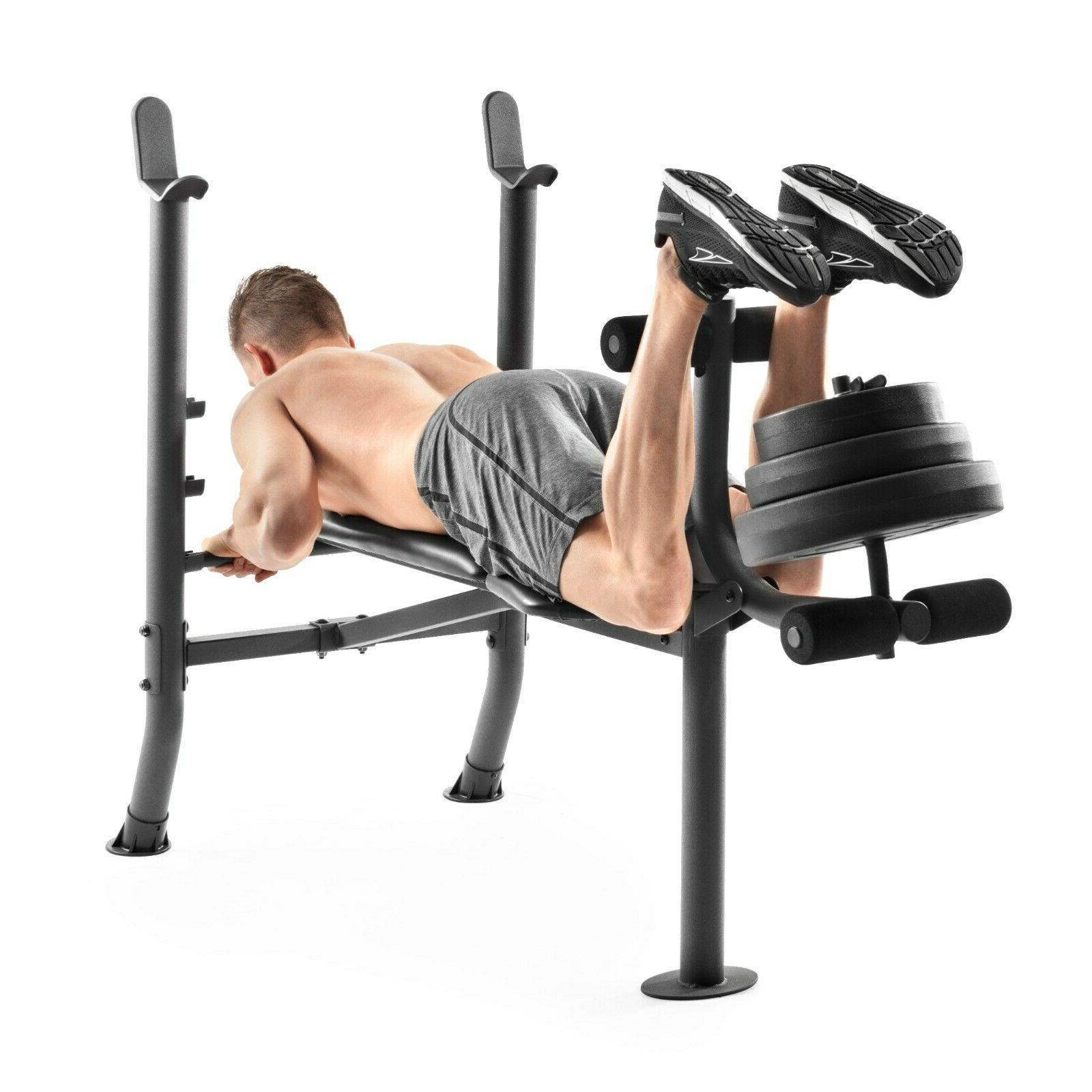 Fitness Bench Set Equipment Home Workout