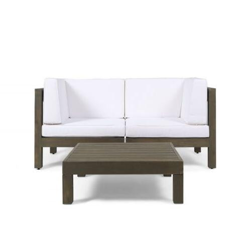 Great Deal Outdoor Sectional Loveseat Set with Coffee Table