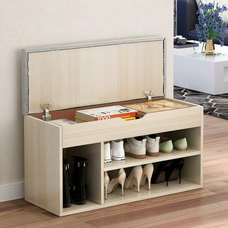 Storage Bench Storage Hall Wooden Shoe Cabinet with Drawers