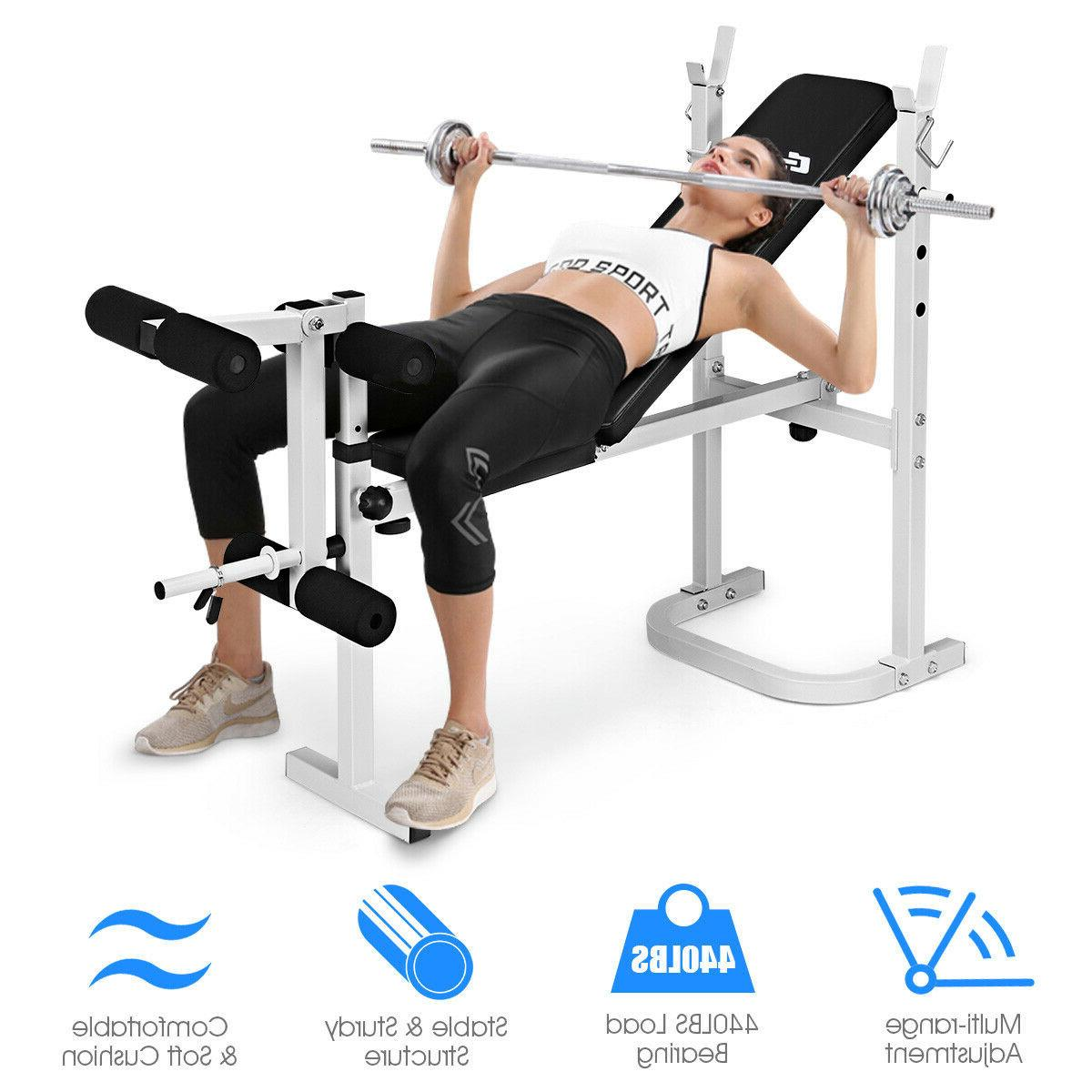 HIGH Steel Olympic Folding Weight Bench With 3