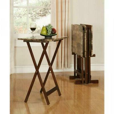 home decor tray table set square faux