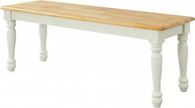 Kitchen Bench Breakfast Nook Long Dining White Chair