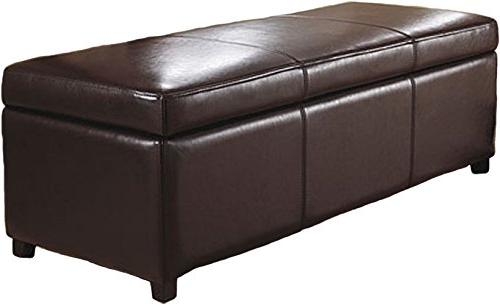 Brooklyn + Max Large Rectangular Storage Ottoman Bench, Multiple Colors