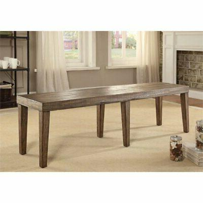 Furniture of America Lippin Dining Bench Elm