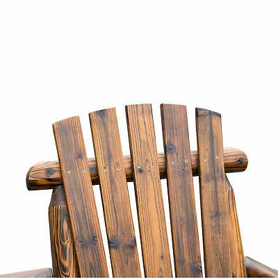Outdoor Seat Adirondack Bench w/ Ice Carbonized Brown