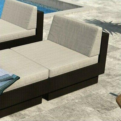 park terrace armless seat in textured black