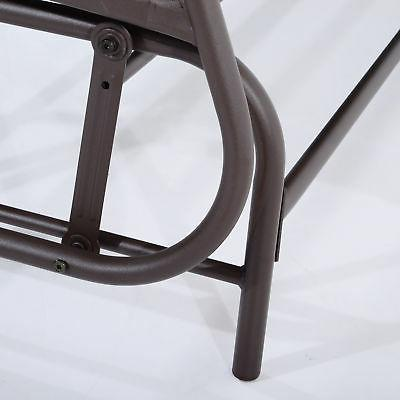 Outsunny 2 Glider Rocking Swing Bench Furniture Table