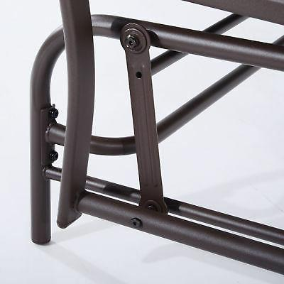 Outsunny 2 Glider Chair Swing Bench Table