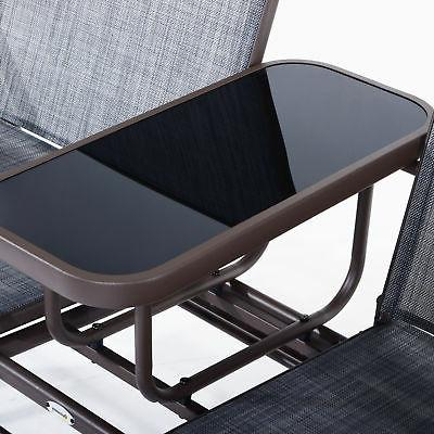 Outsunny 2 Seater Glider Rocking Chair Swing Bench Furniture
