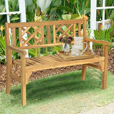 patio solid wood bench folding loveseat chair