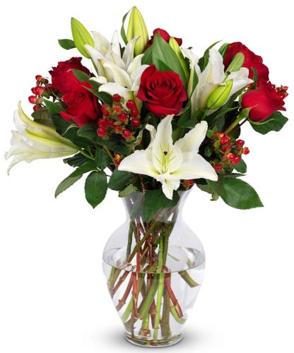 Benchmark Bouquets Red With Vase Fresh Cut Flowers Inspiring