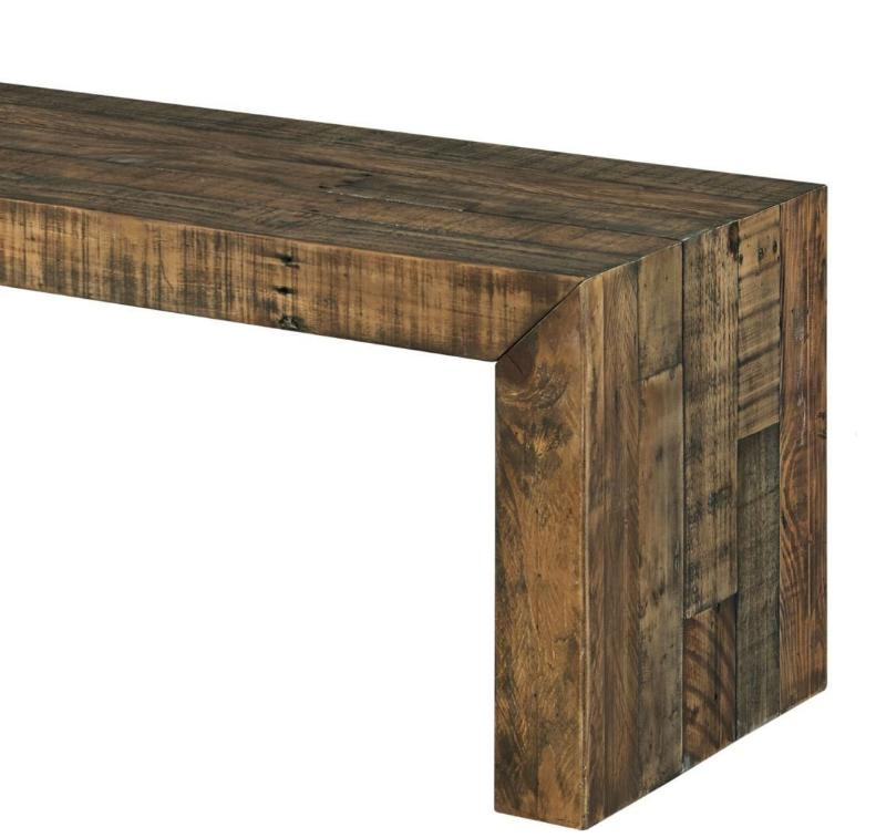 Rustic Dining Bench Reclaimed Kitchen Seating