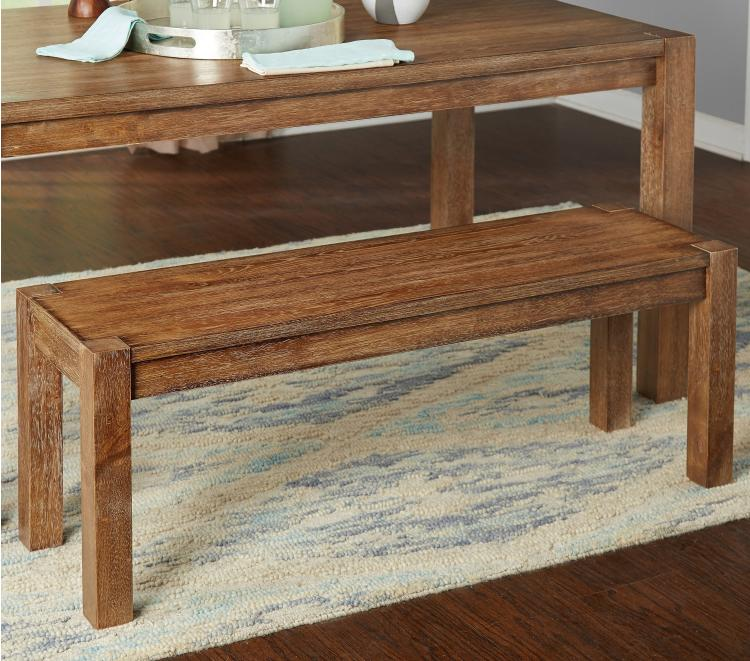 Rustic Bench Seat Hall Natural Wood