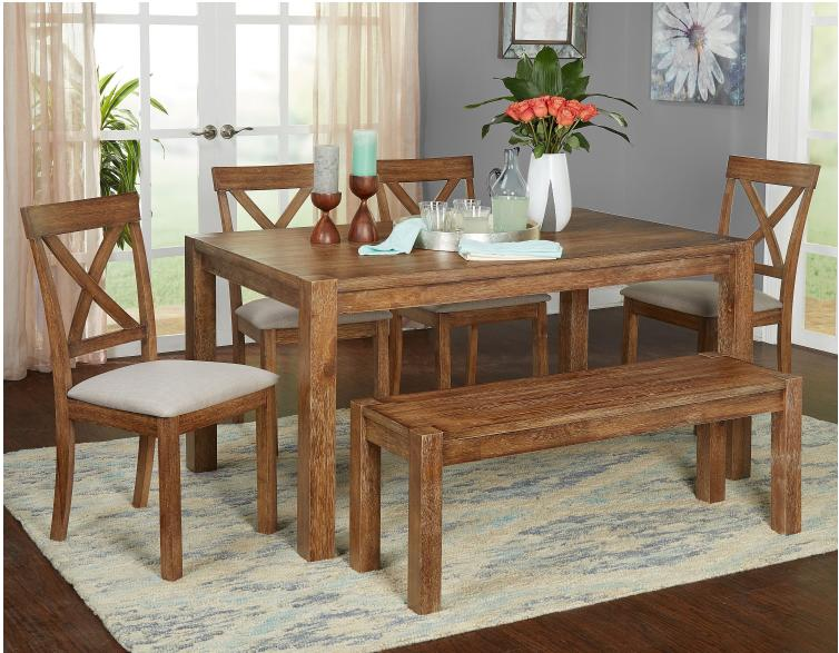 Rustic Farmhouse Kitchen Bench Seat Hall Natural Solid