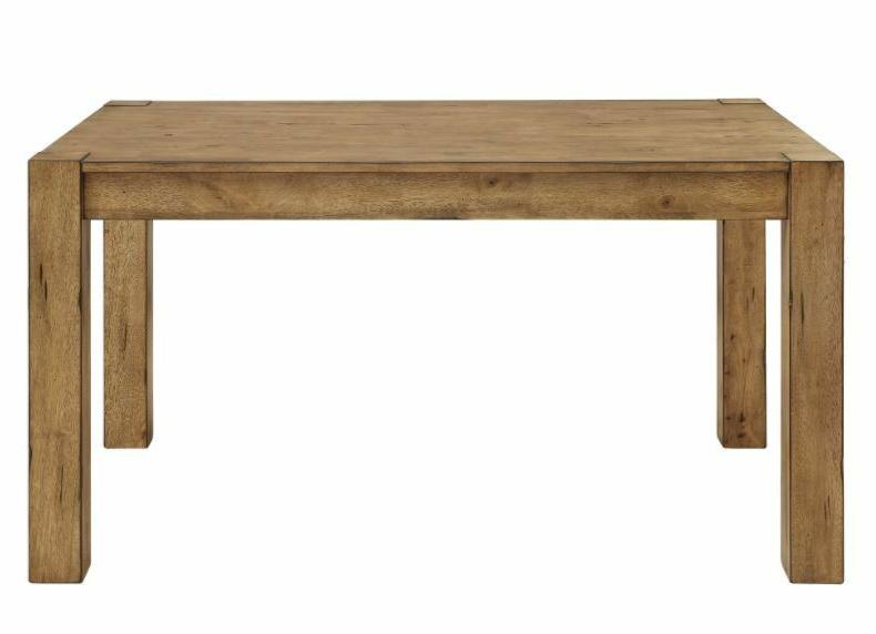 Rustic Wood Dining Table Vintage Metal Chair Set for