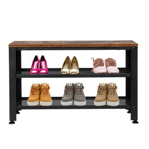 Shoes 3-Tier Rack, with Seat for