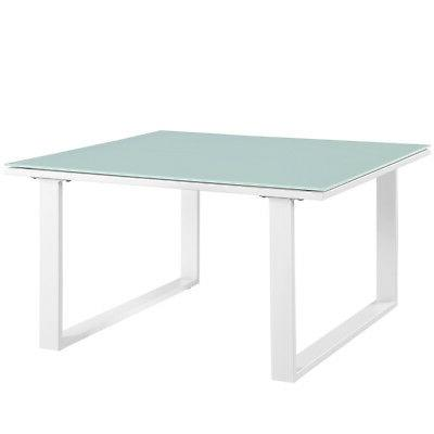 Outdoor Side Table in White