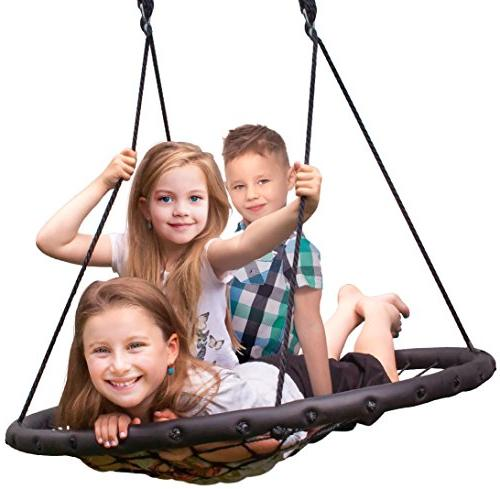 Sorbus Spinner Swing – Great for Tree, Set, Backyard, Playground, Playroom Included