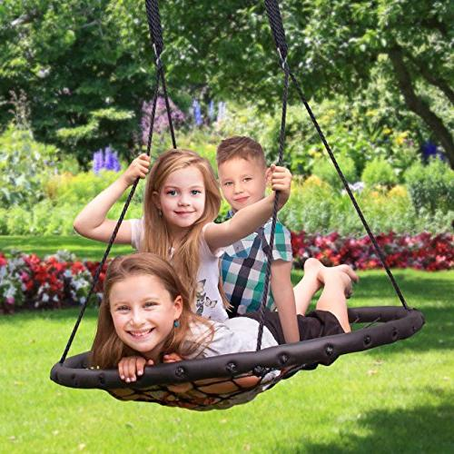 Sorbus Swing Kids Indoor/Outdoor Round Swing for Tree, Swing Backyard, Playground, Included