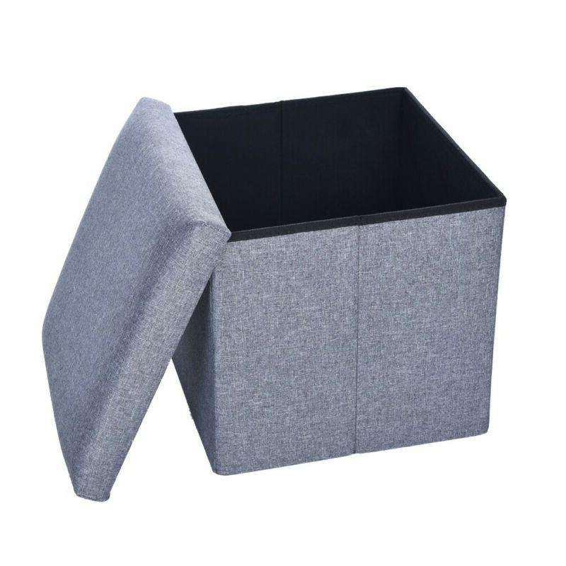 Storage Faux leather Footstool