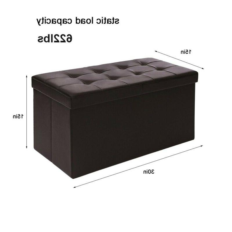 Storage Bench Ottoman Faux