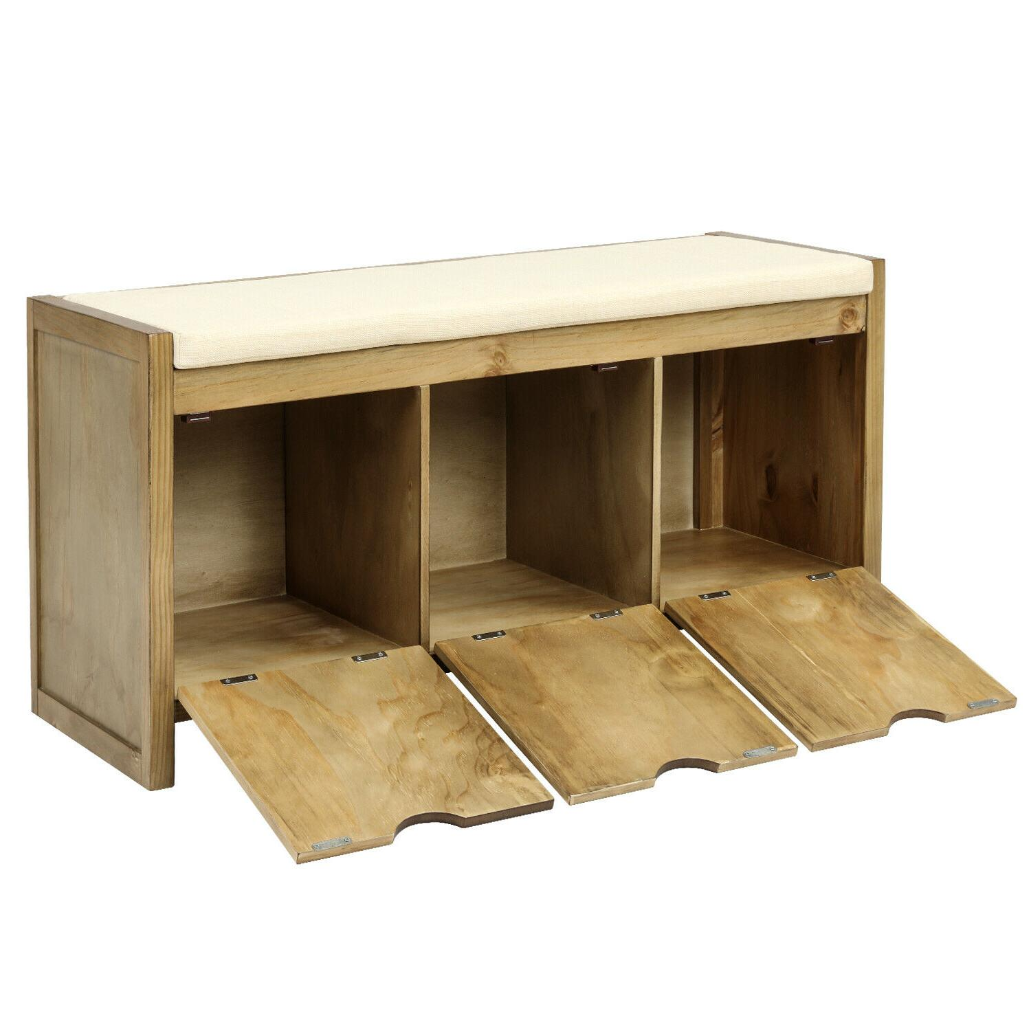 Storage Bench with Removale Cubbies Room