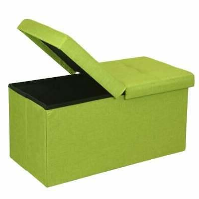 Storage Ottoman Bench 30 Inch Smart Lift Top, Lime Green - Y