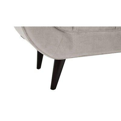 Brika Home Tufted Flare Arm Entryway Bench Opal Gray