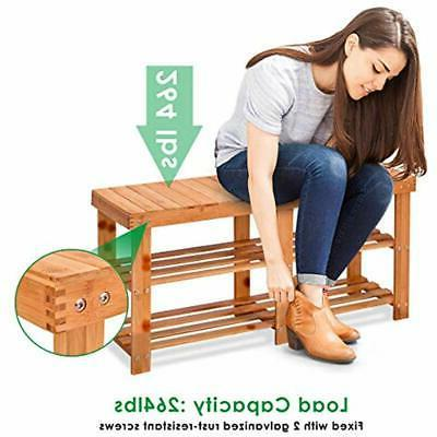 Two Bamboo Bench Entryway For