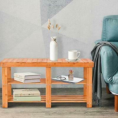 Two Bamboo Entryway With Shelf For