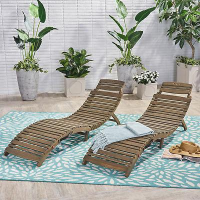 tycie outdoor acacia wood foldable chaise lounge