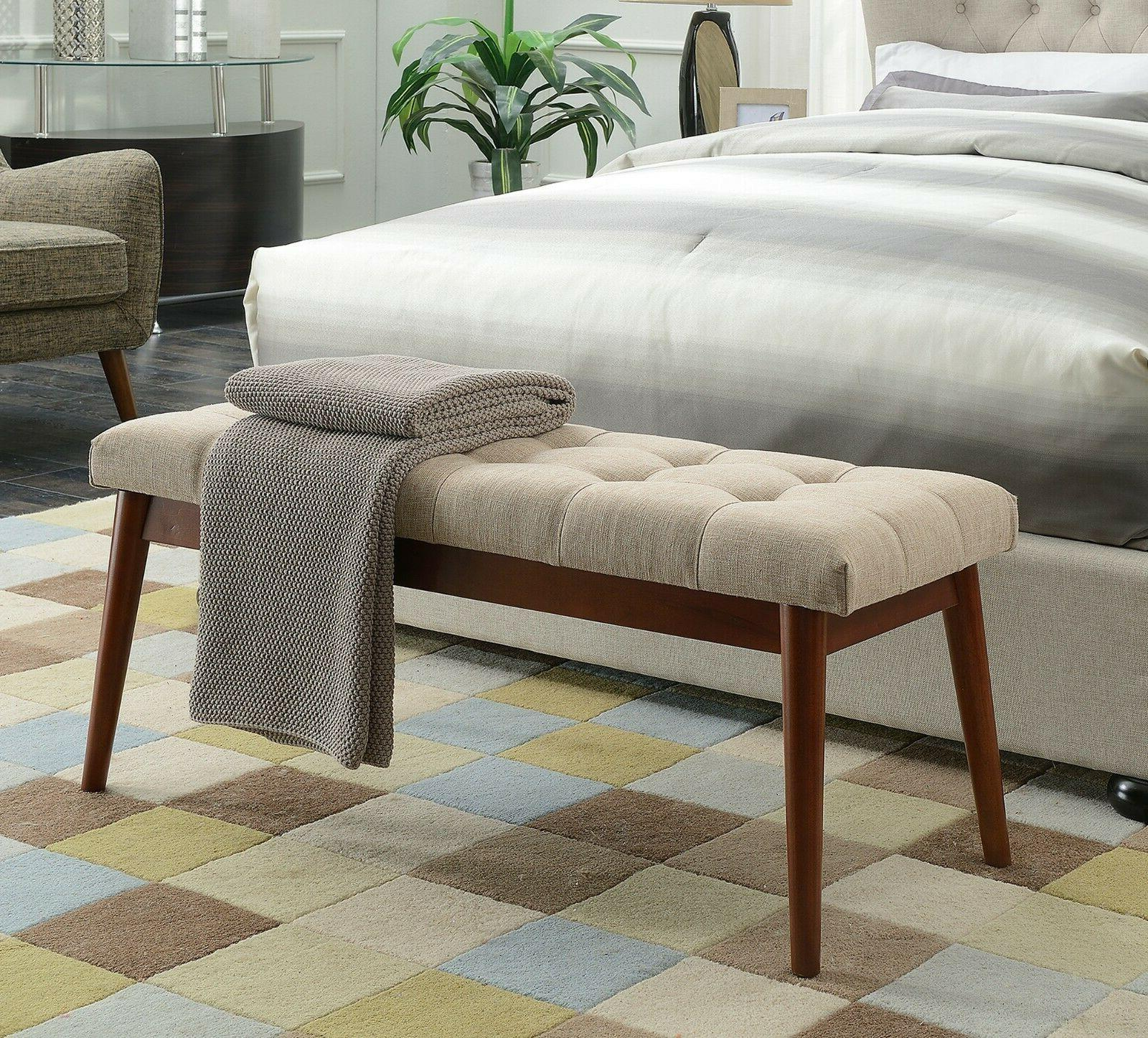 Upholstered Bedroom Bench Tufted Accent Benches For Living R