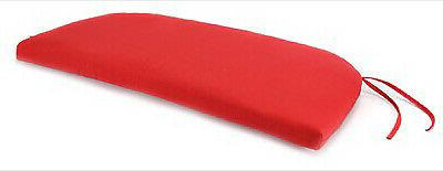 uptown bench cushion red