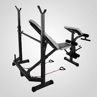Weight Bench Gym Deluxe Weights Lifting