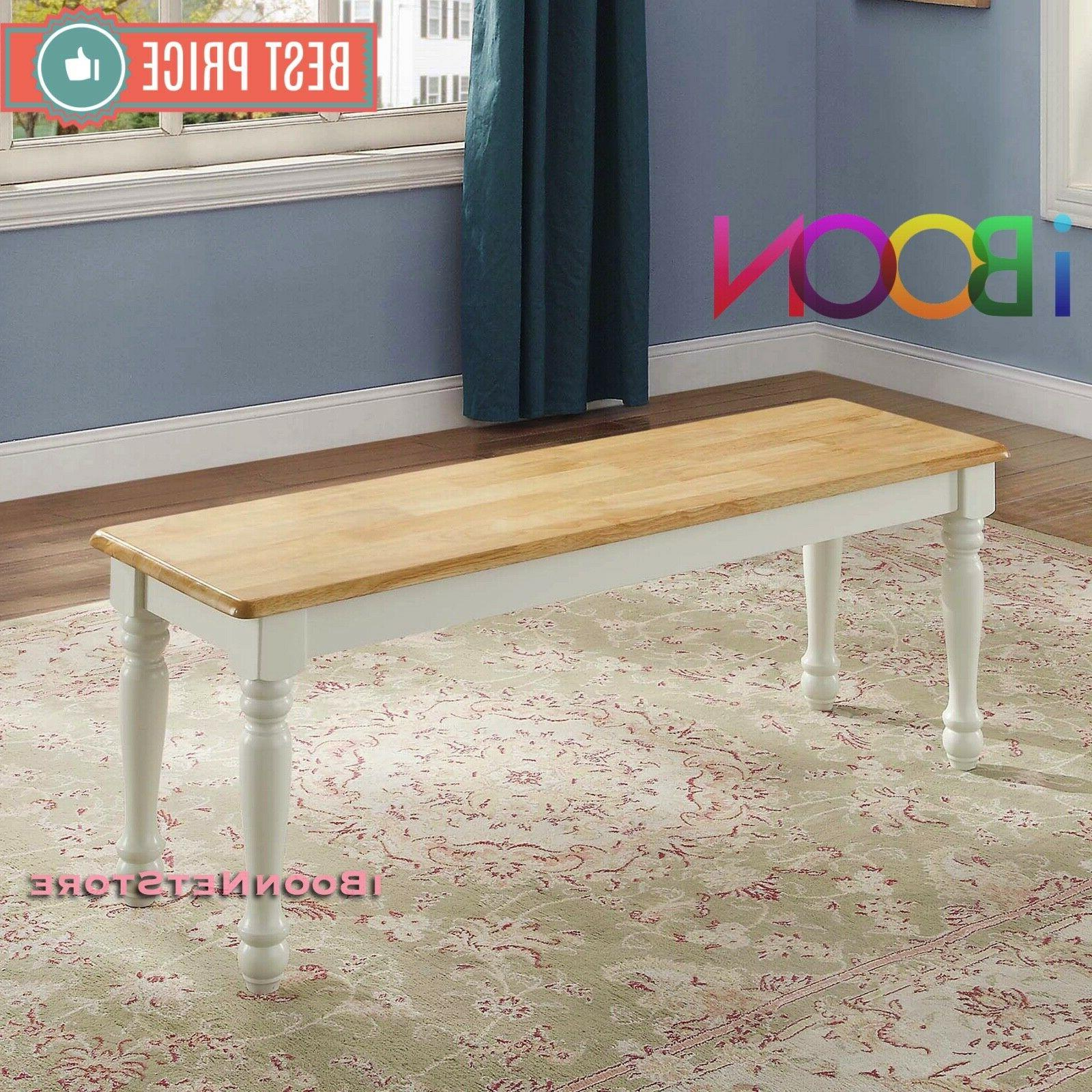Wood Dinning Table Bench Seat Home Furniture Dining Room Whi