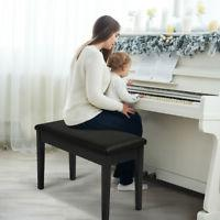 Wooden Piano Bench Stool Padded Comfort