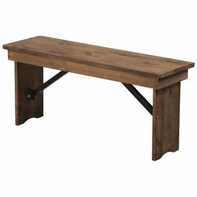 FLASH FURNITURE XA-B-40X12-GG Farm Bench,Antique,Rustic,Fold