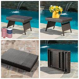 Great Deal Furniture Lakeport Outdoor Wicker Table