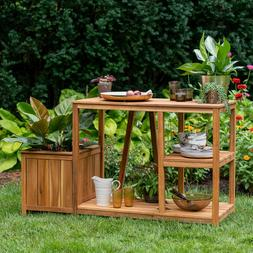 Large Garden Potting Bench Table Outside Patio Side Planter