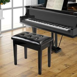 Leather Padded Polish Concert Piano Bench Keyboard Double/Si