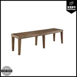Furniture of America Lippin Wooden Dining Bench In Rustic Oa